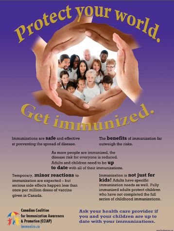 National Immunization Awareness Week Apr. 21-28, 2012: New, Free Vaccines in Ontario