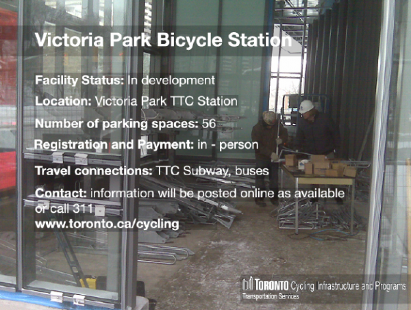 You're Invited: Official Opening of a New Bike Station at Victoria Park Subway Station