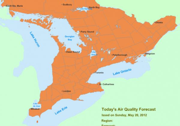 Ontario's Smog Advisory:Expanded to Include City of Ottawa & Vicinity May 20, 2012