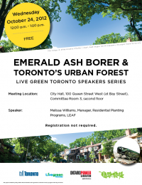 urban forests in toronto speech Leaf - local enhancement and appreciation of forests, toronto see more of leaf - local enhancement and appreciation of forests on facebook log in or be the first to hear about our latest urban forest news, events.