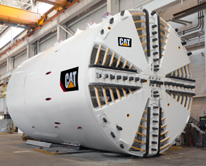 Above, a Tunnel Boring Machine (TBM) for the Crosstown Light Rail Transit Line