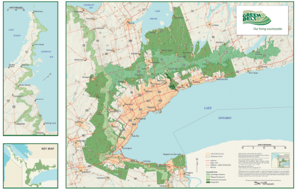 Ontario's Green Belt Map