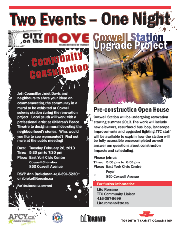 ttc coxwell mural consultation