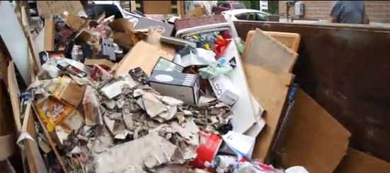 Massive destruction of property caused by Toronto flooding of July 8, 2013.