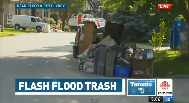 Toronto's Flood Cleanup Alert: Get Free Permits for the Placement of Private Disposal Bins Within the Public Right of Way July 17-31, 2013
