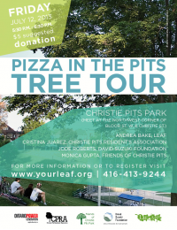 leaf pizza in the pits tree tour