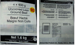Uncooked Lean Ground Beef - 1.6 kg. / Boeuf haché maigre non cuits - 1.6 kg.