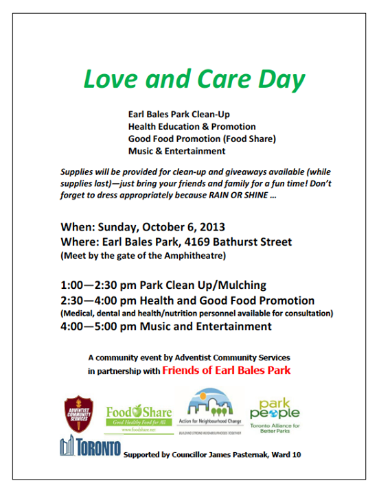 love and care day earle bales park 2013