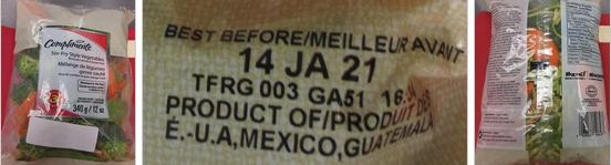 Compliments Stir-Fry Style Vegetables - 340 g (left), Compliments Best Before Date Stirfry - 340 g (centre), Compliments Stir-Fry Style Vegetables-back - 340 g (right) /  Compliments Mélange de légumes genre sauté - 340 g (gauche), Compliments Besty Before Date sauté - 340 g (centre), Compliments Mélange de légumes genre sauté-arrière - 340 g (droit)