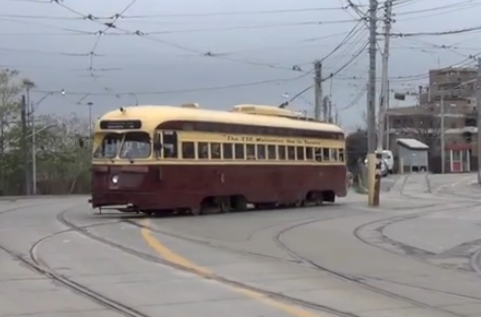 TTC PCC streetcar 4500 in Toronto, Ontario, Canada.