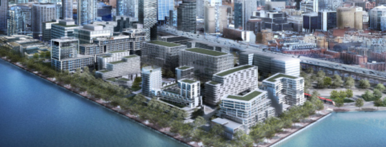 A rendering of Bayside Toronto. Image by Hines.